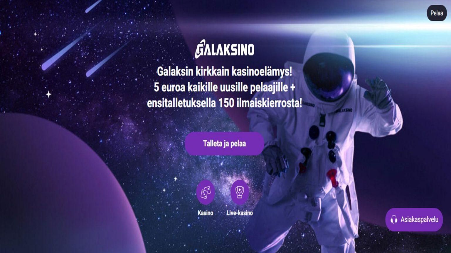 Galaksino Kasino-näyttökuva