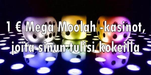 1 € Mega Moolah -kasinot, joita sinun tulisi kokeilla