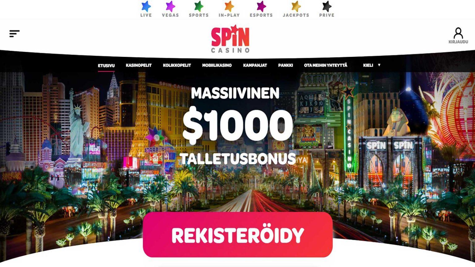 Spin Casino Screenshot