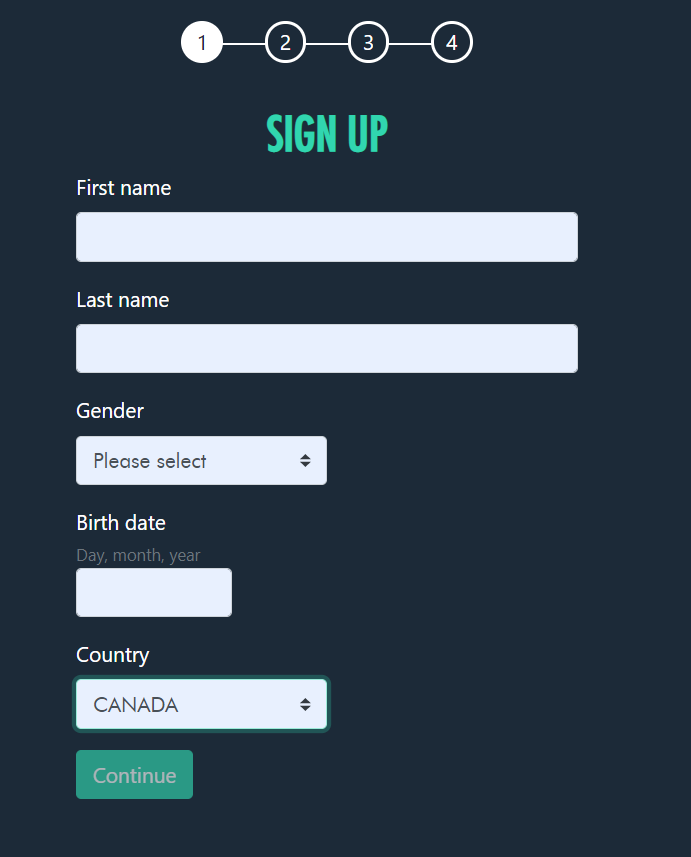 Jonny Jackpot Registration screenshot
