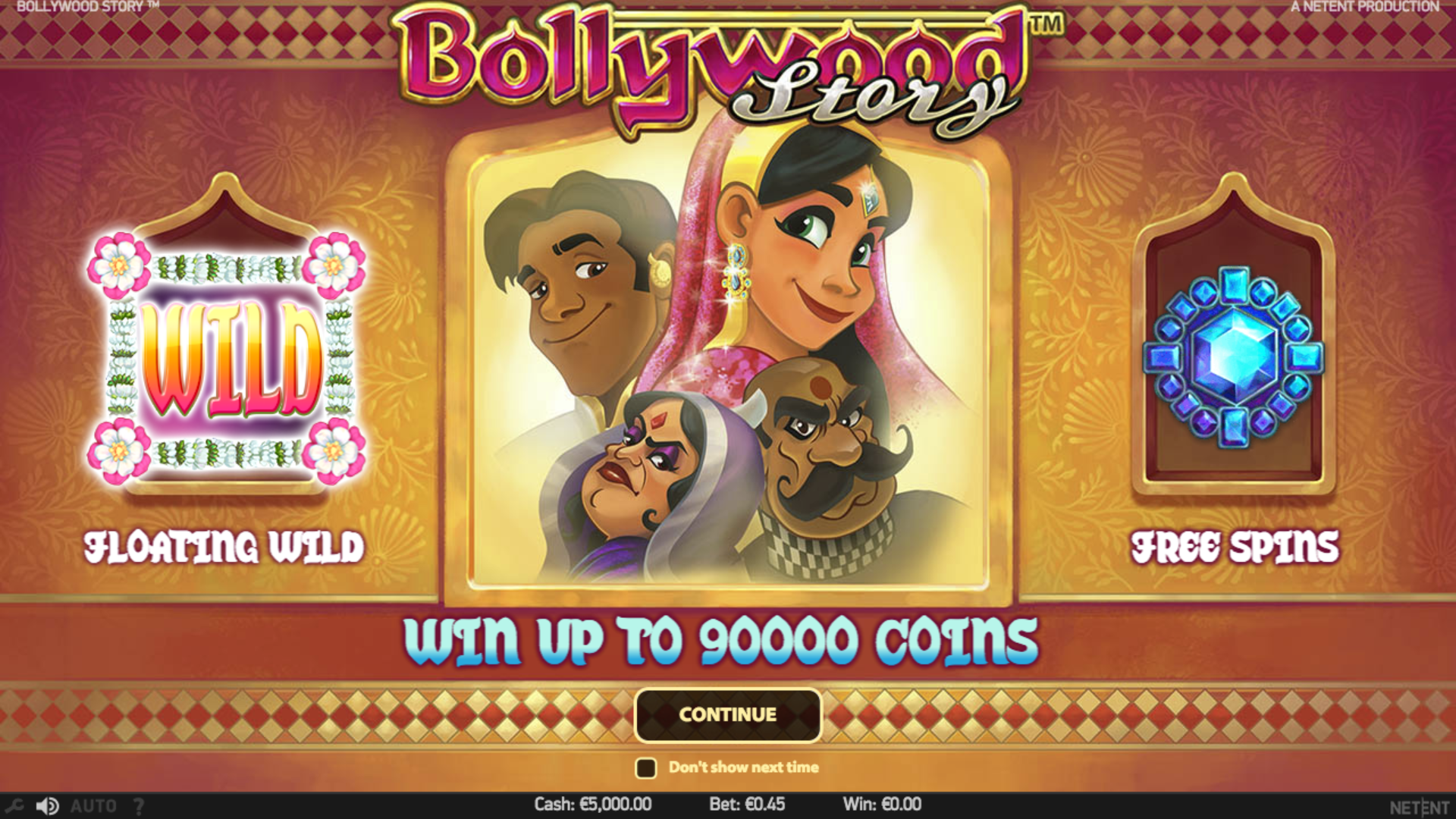 Bollywood Story by NetEnt