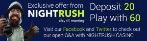 NightRush Casino Offer
