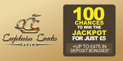 Captain Cook 100 Chances to be a Millionaire logo