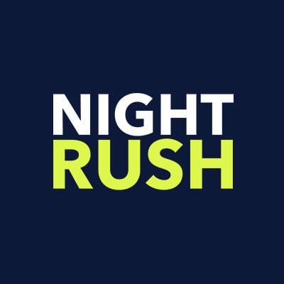 Night Rush Logo Blue