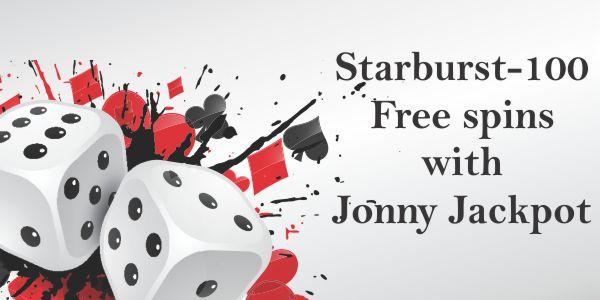 Starburst – 100 Free spins with Jonny Jackpot