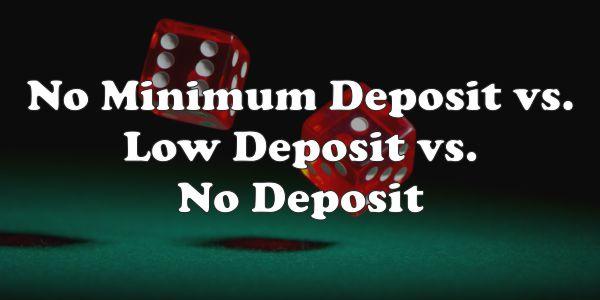No Minimum Deposit Casinos