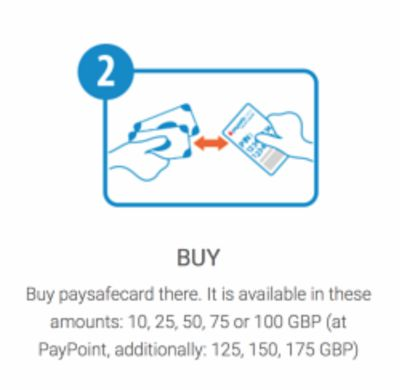 Buy and Deposit with PaysafeCard