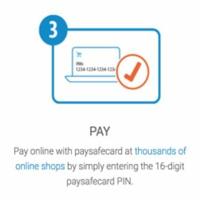 Deposit window with Paysafecard