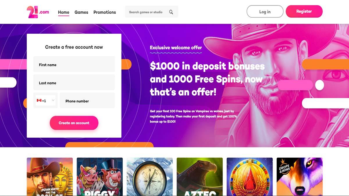 21.com Screenshot