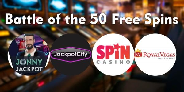 Battle Of The 50 Free Spins Bonuses Register Today And Get A