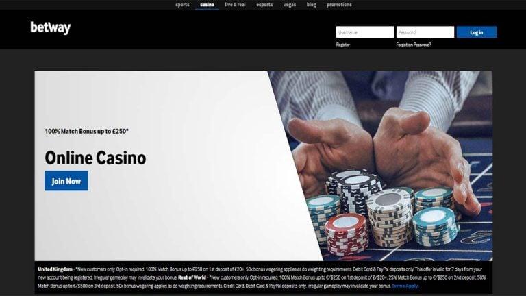 Betway Casino Minimum Deposit