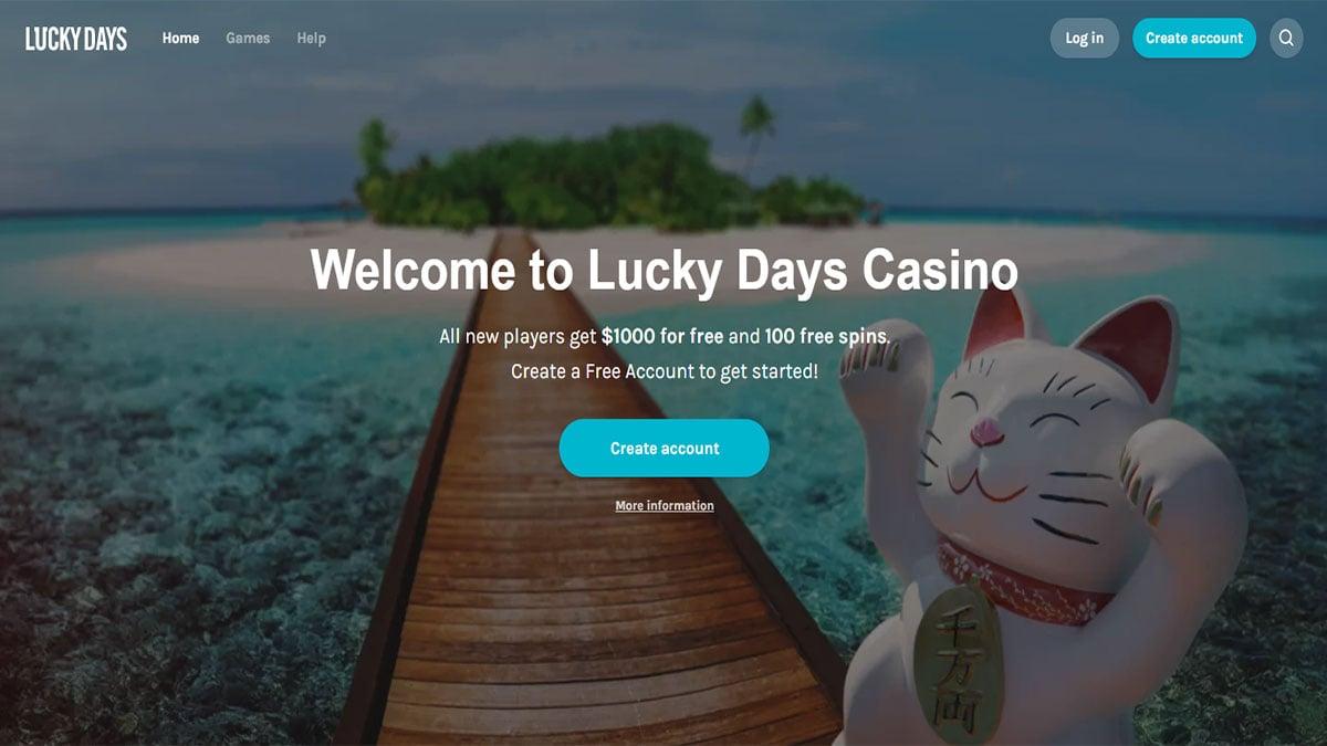 Lucky Days Casino Screenshot