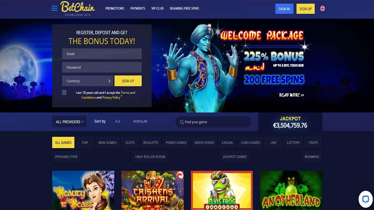 Betchain Casino Review Bitcoin Casino Mobile Friendly Minimum