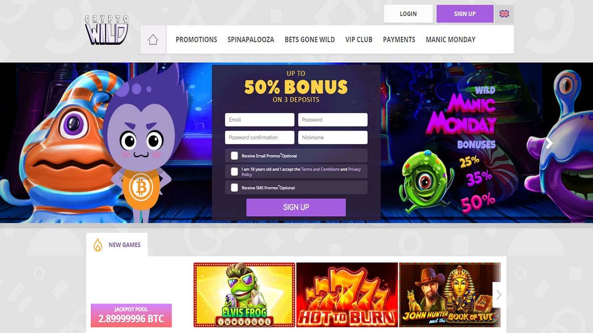 Crypto Wild Casino Screenshot