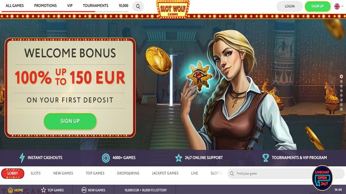 Slot Wolf Casino Screenshot