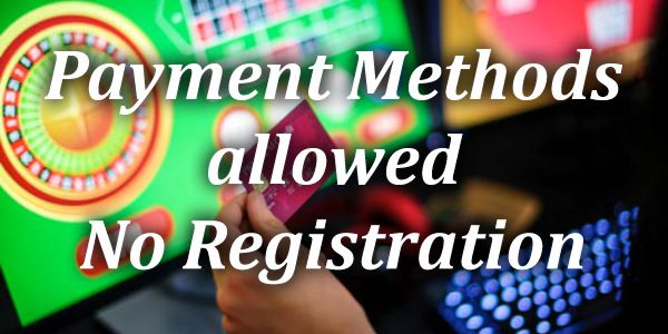 Payment Methods allowed No Registration