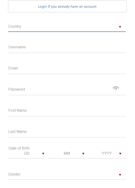 Royal Vegas Registration screenshot
