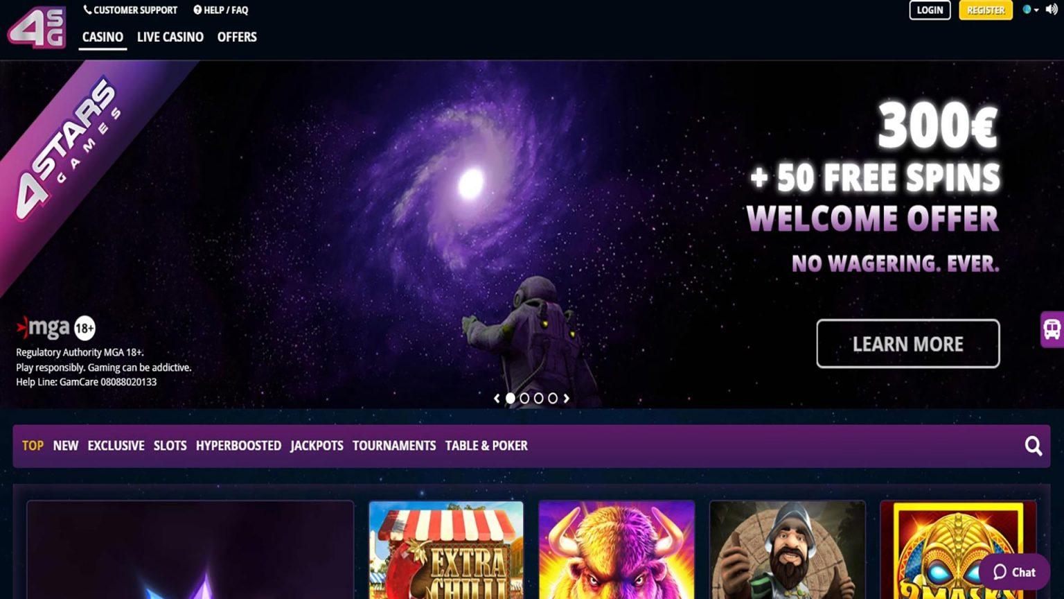 4 Star Games Online Casino Screenshot