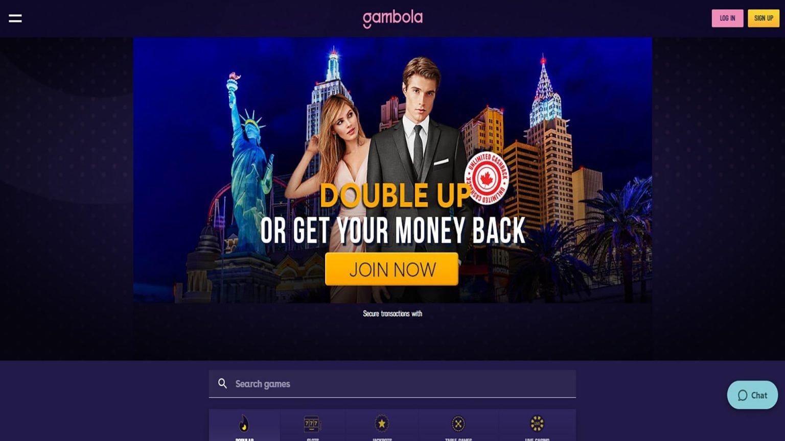 Gambola Casino Screenshot