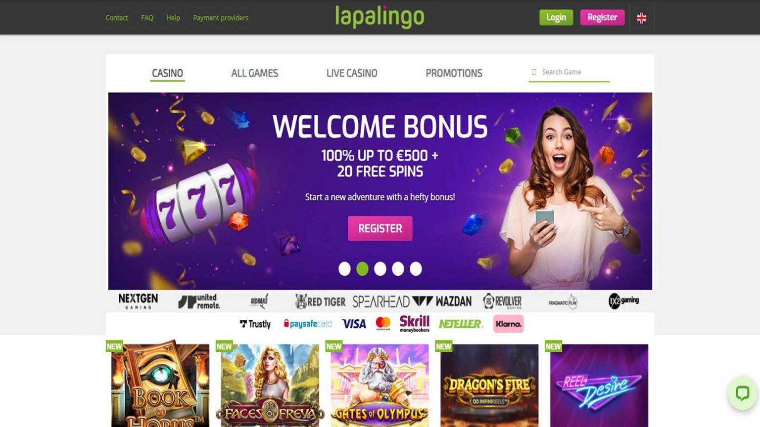 Lapalingo Casino Screenshot