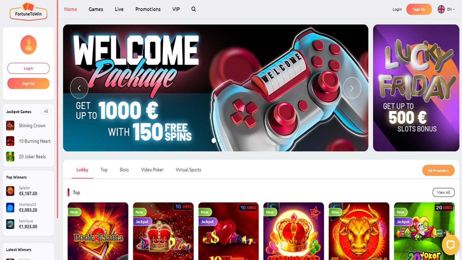 Fortune to win Casino Screenshot