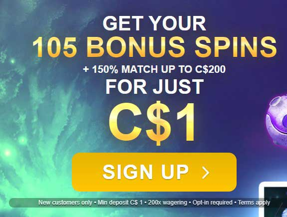 Lucky Nugget Casino 105 Free Spins For $1